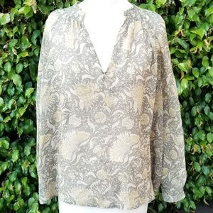 Vince silk shirt size small